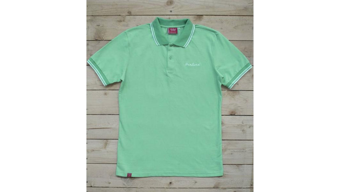 Eastwood Guitars Airline Polo Shirt Seafoam Green Angled