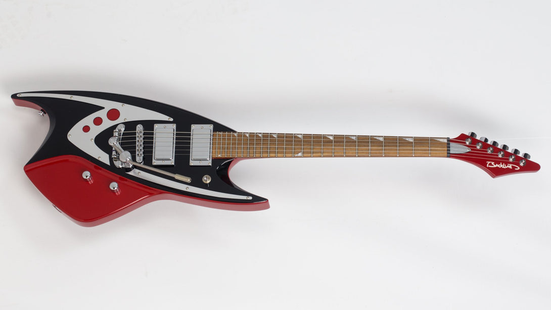 Eastwood Guitars Backlund 400 DLX Red Angled