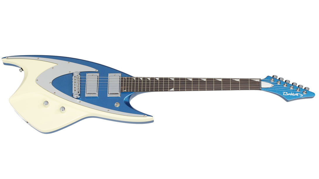 Eastwood Guitars Backlund 400 Metallic Blue Angled