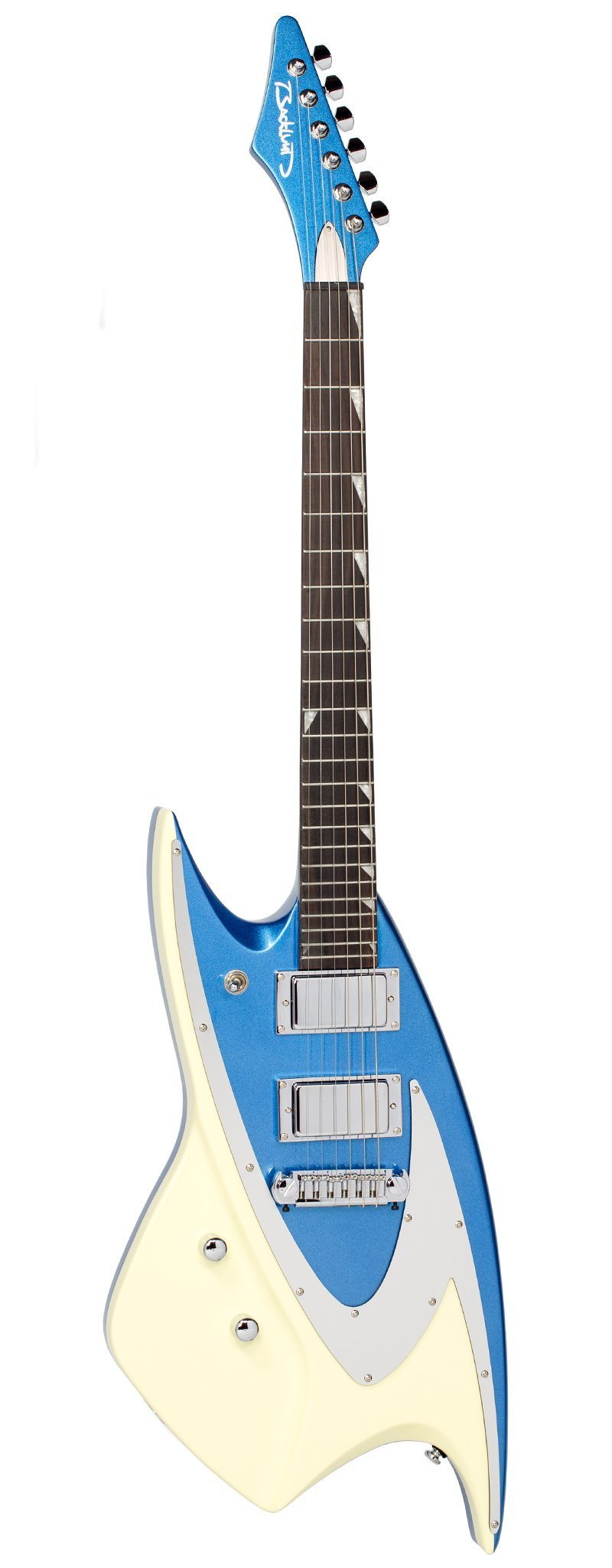 Eastwood Guitars Backlund 400 Metallic Blue LH Full Front