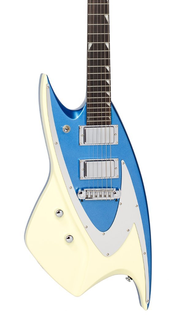 Eastwood Guitars Backlund 400 Metallic Blue LH Featured