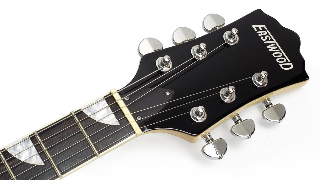 Eastwood Guitars Classic 6 Natural Headstock