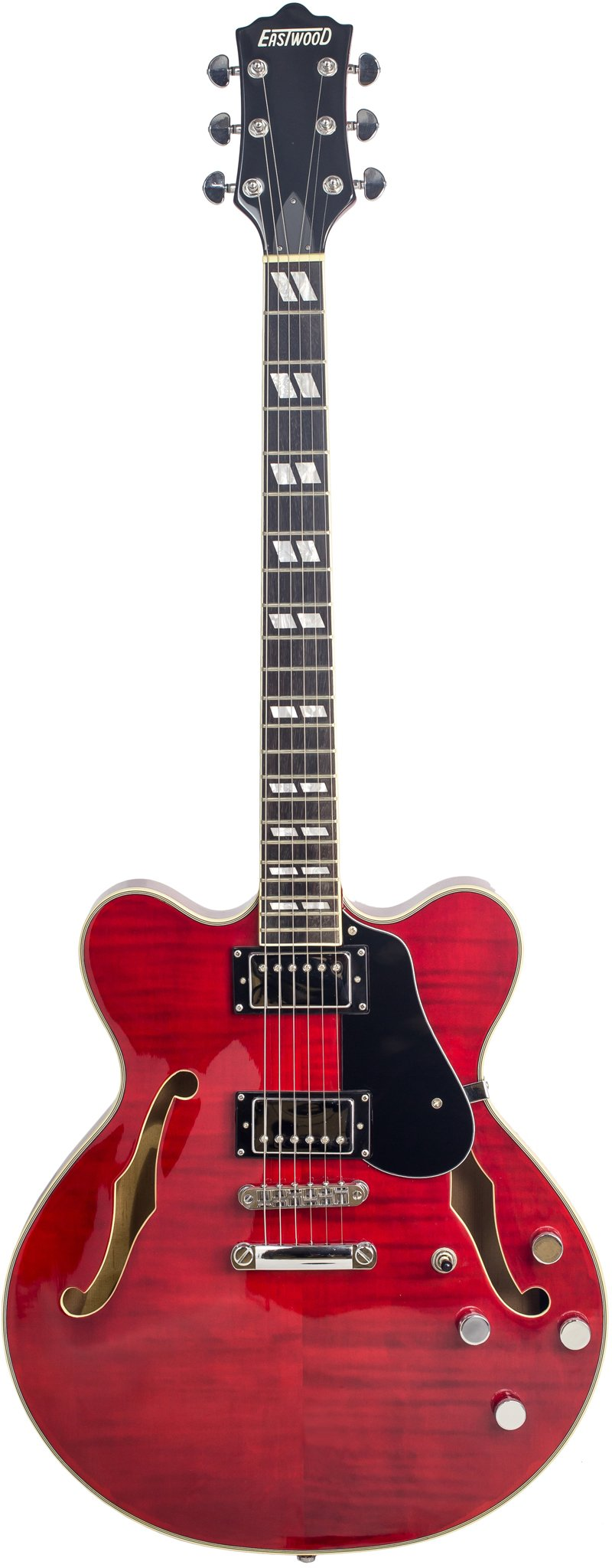 Eastwood Guitars Classic 6 HB Dark Cherry Full Front