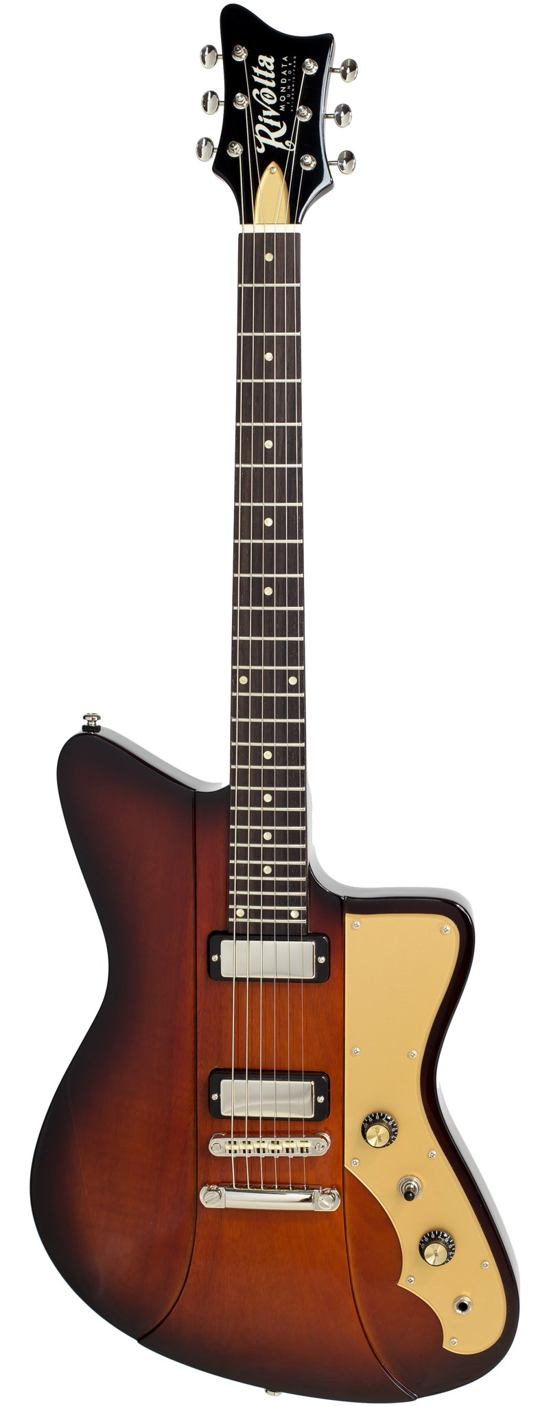 Eastwood Guitars Rivolta Mondata JR Fuoco Burst Full Front