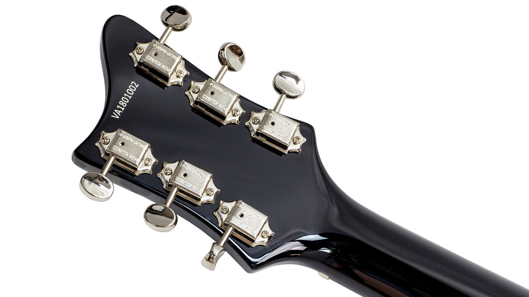 Eastwood Guitars Rivolta Mondata JR Toro Black Head Back