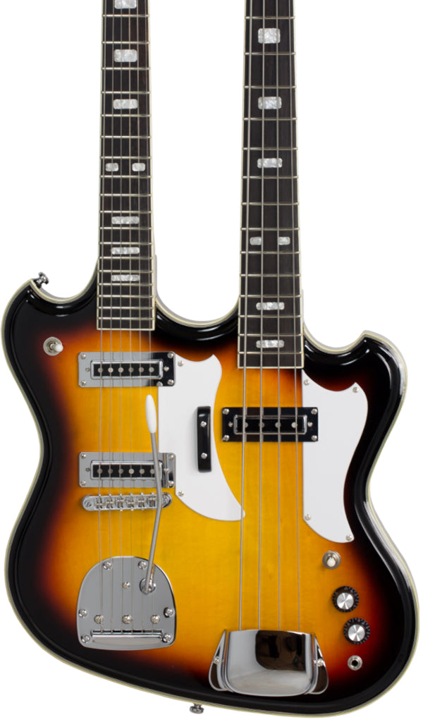 Eastwood Guitars Eastwood Doubleneck 4/6 Sunburst Featured