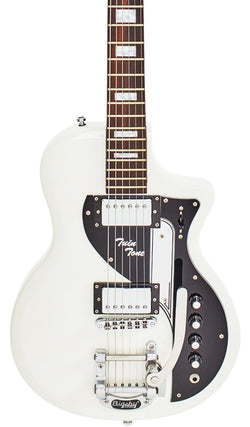 Eastwood Guitars Airline Twin Tone DLX White Featured