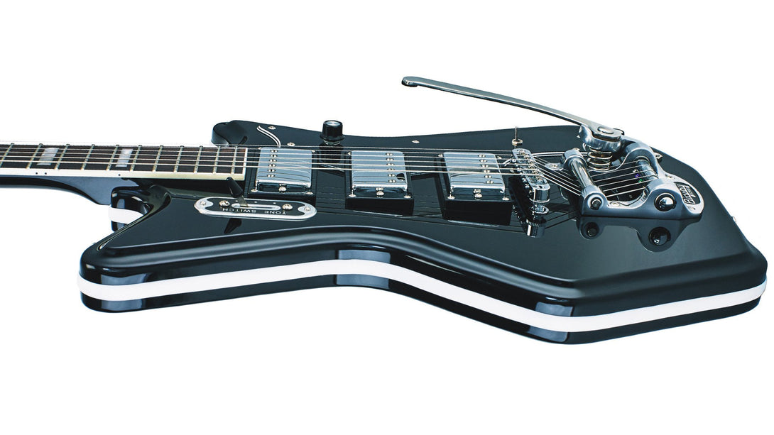 Eastwood Guitars Airline 593P Ripley Black Player POV