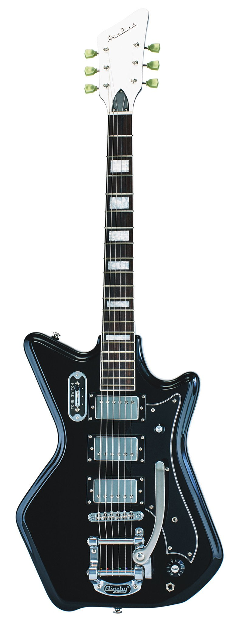 Eastwood Guitars Airline 593P Ripley Black Full Front