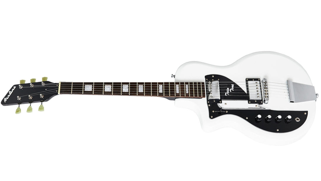 Eastwood Guitars Airline Twin Tone White LH Angled