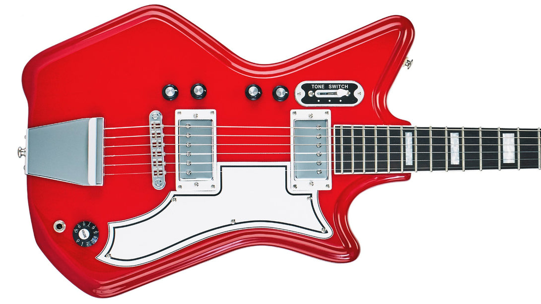 Eastwood Guitars Airline 592P Red Closeup
