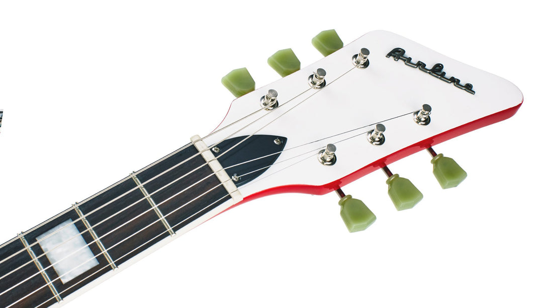 Eastwood Guitars Airline 592P Red Headstock