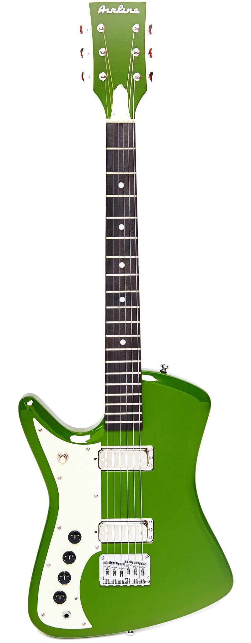 Eastwood Guitars Airline Bighorn Green Left Hand Full Front