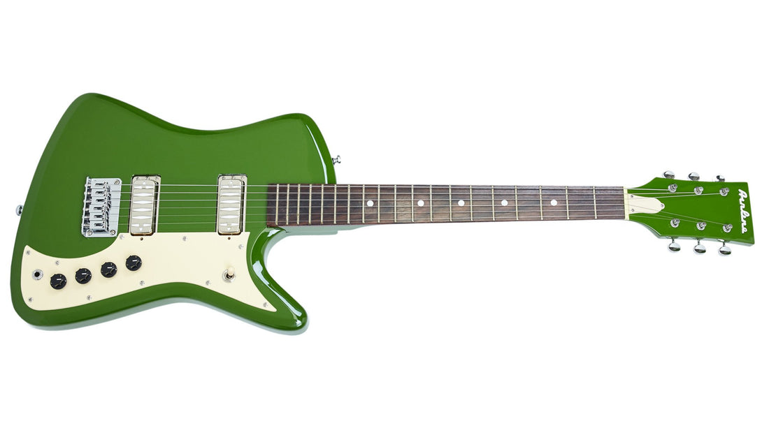 Eastwood Guitars Airline Bighorn Green Angled