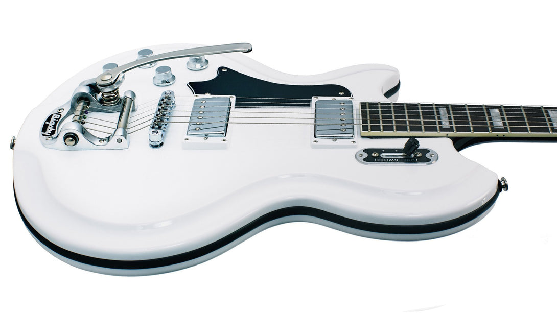 Eastwood Guitars Airline 59 Coronado White LH Player POV
