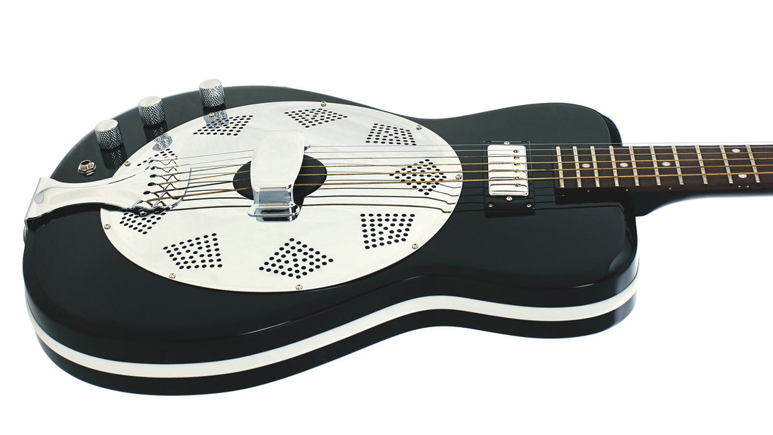 Eastwood Guitars Airline Folkstar Black LH Player POV