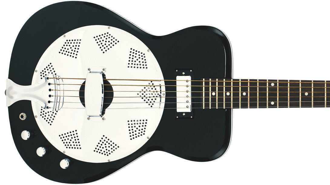 Eastwood Guitars Airline Folkstar Black Closeup