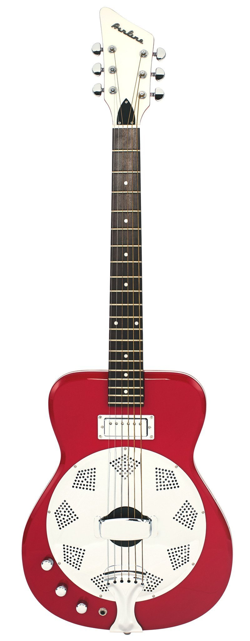 Eastwood Guitars Airline Folkstar Red LH Full Front