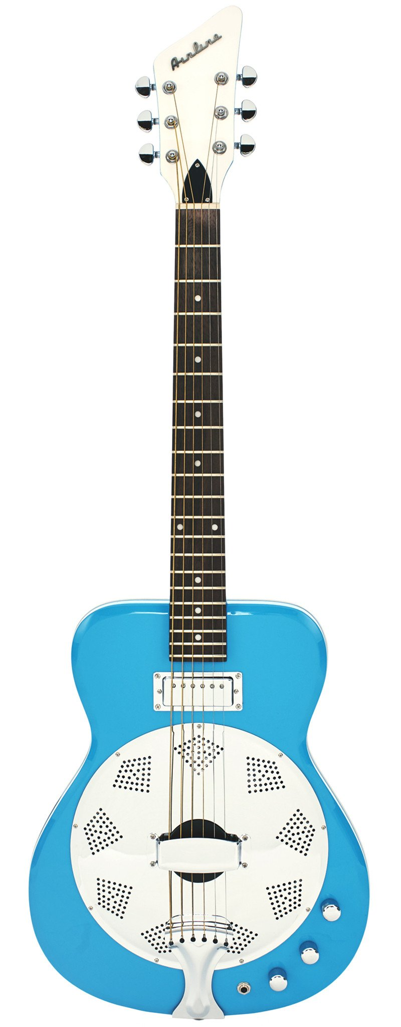 Eastwood Guitars Airline Folkstar Sky Blue Full Front