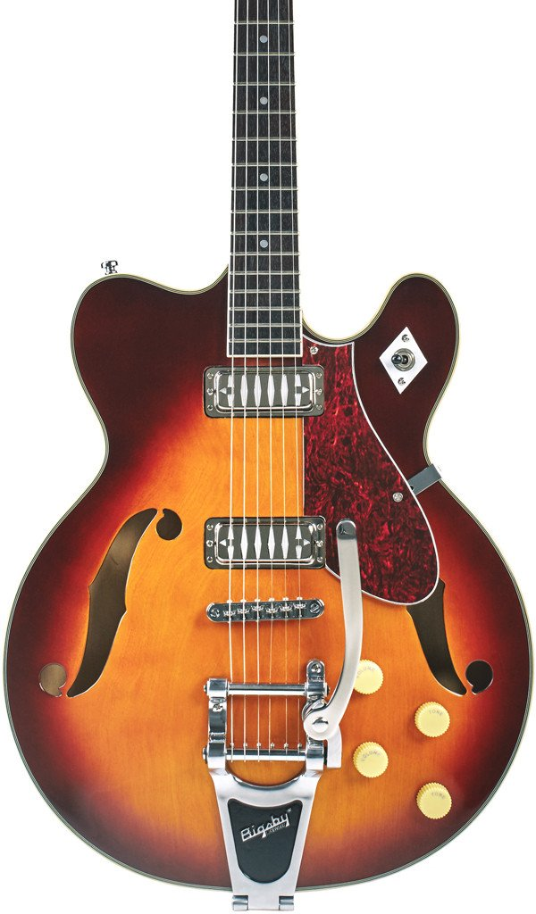 Eastwood Guitars Airline H74 DLX Honeyburst Featured