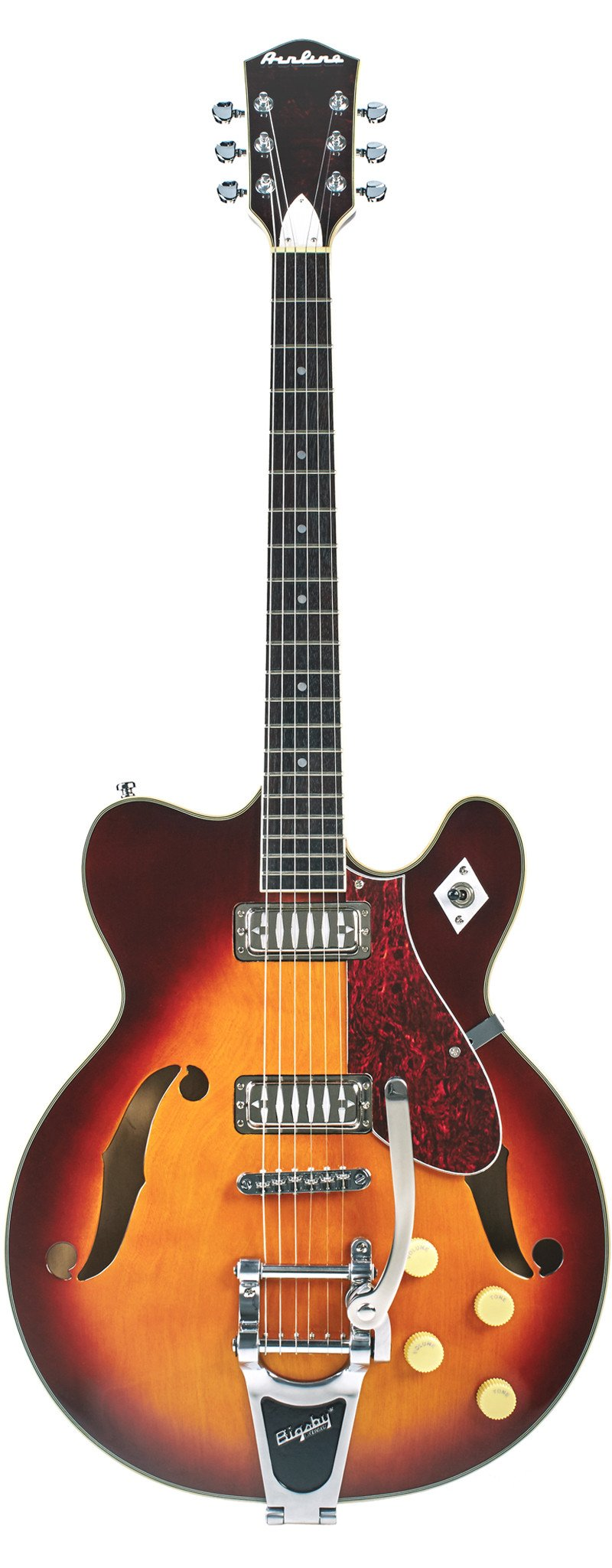 Eastwood Guitars Airline H74 DLX Honeyburst Full Front