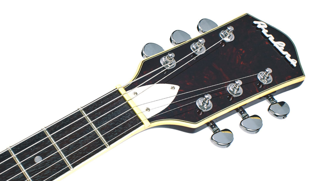 Eastwood Guitars Airline H74 DLX Honeyburst Headstock