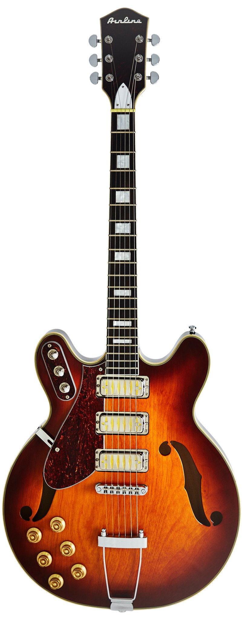 Eastwood Guitars Airline H77 Honeyburst Left Hand Full Front