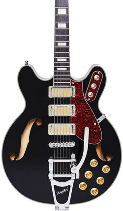 Eastwood Guitars Airline H78 Black Featured