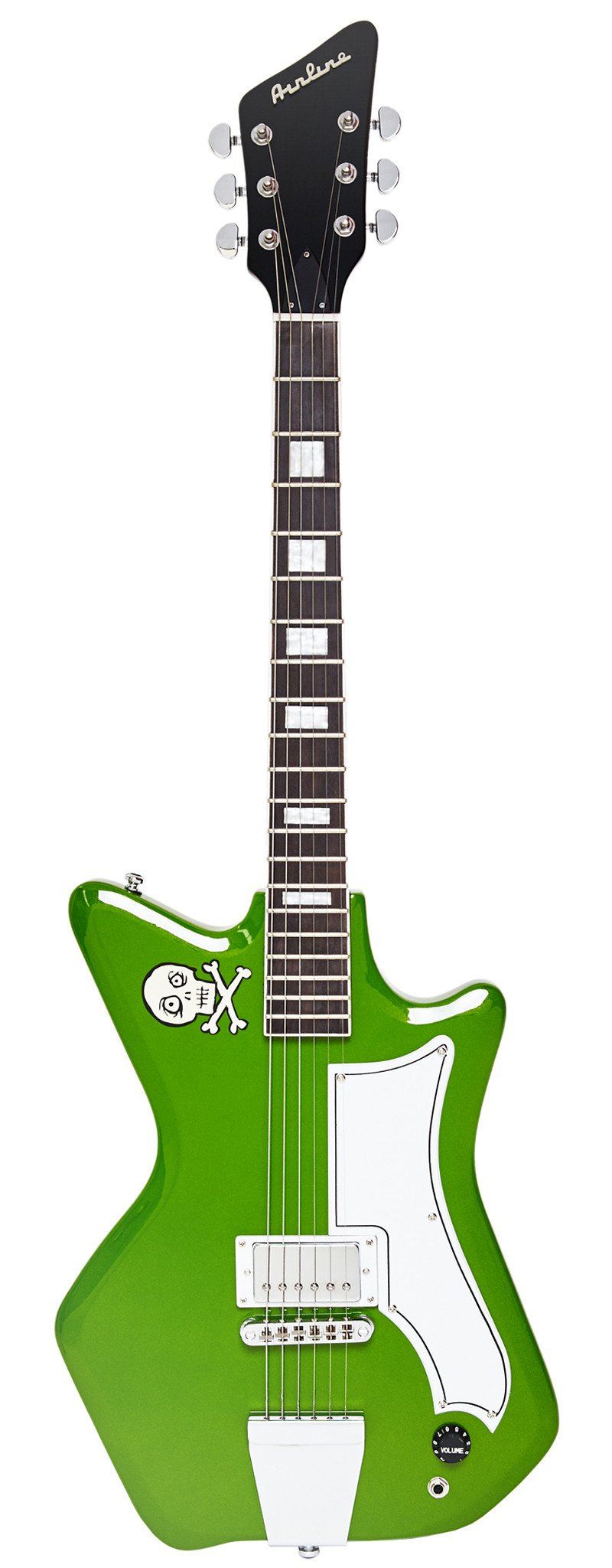 Eastwood Guitars Airline Jetsons Jr Ghoulie Green Full Front