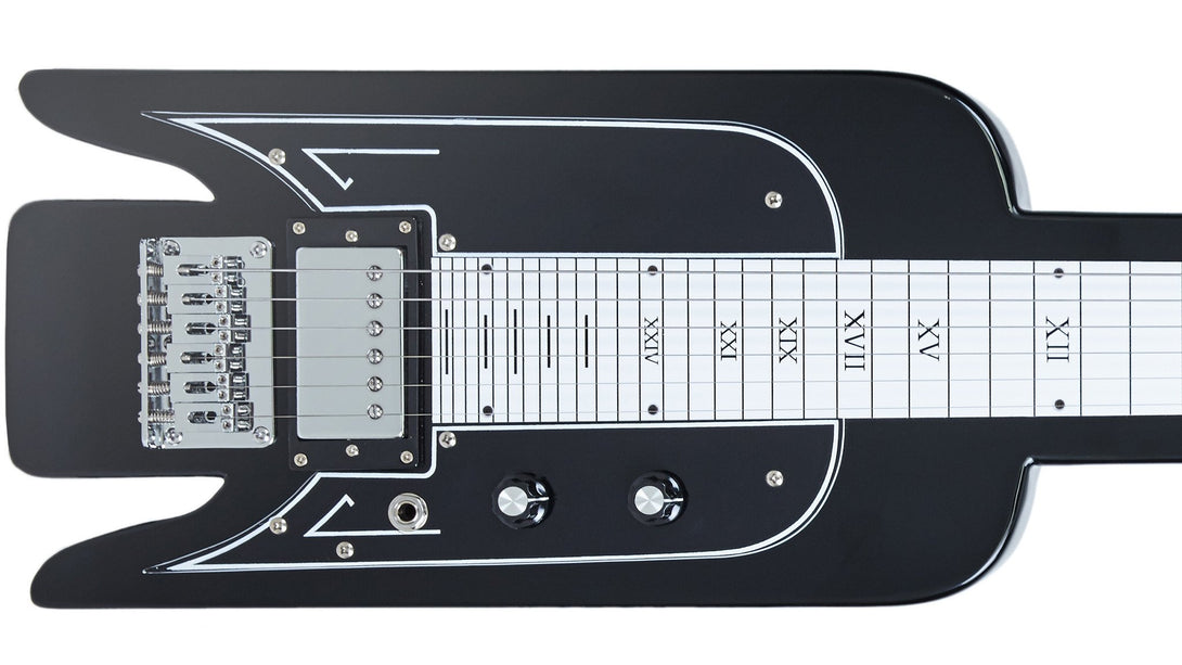 Eastwood Guitars Airline Lap Steel Black Closeup