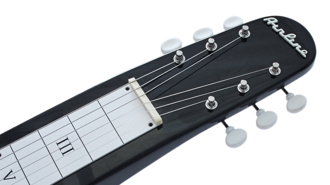 Eastwood Guitars Airline Lap Steel Black Headstock