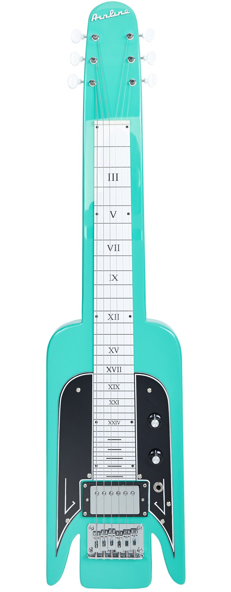 Eastwood Guitars Airline Lap Steel Seafoam Green Full Front