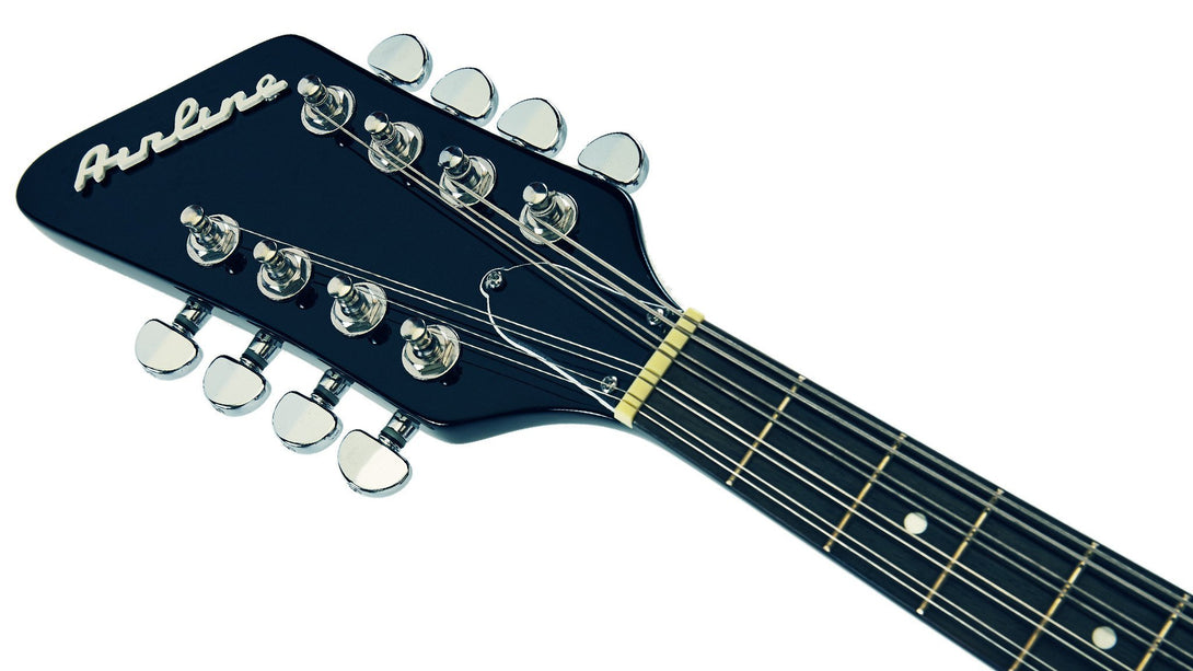 Eastwood Guitars Airline Mandola Black LH Headstock