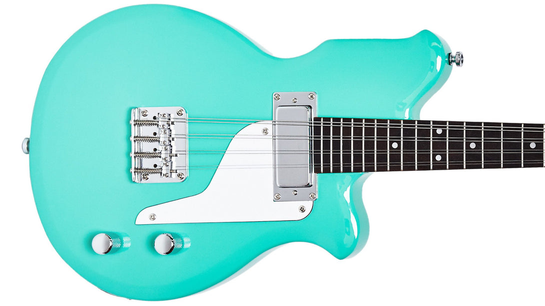 Eastwood Guitars Airline Mandola Seafoam Green Closeup