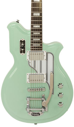 Eastwood Guitars Airline Map Baritone DLX Seafoam Green Featured