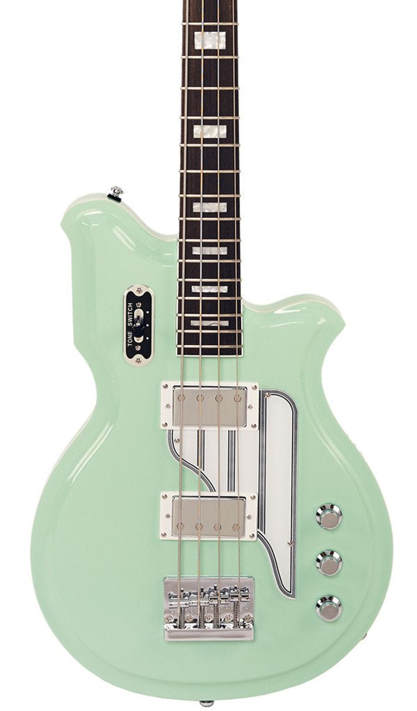 Eastwood Guitars Airline Map Bass 34 Seafoam Green Featured