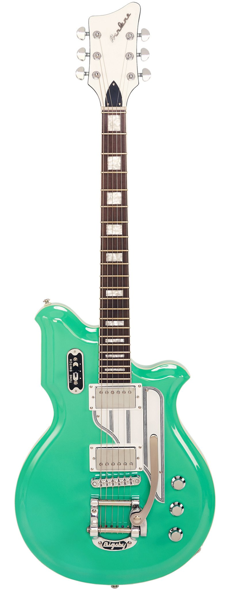 Eastwood Guitars Airline Map DLX Seafoam Green Right Hand Full Front