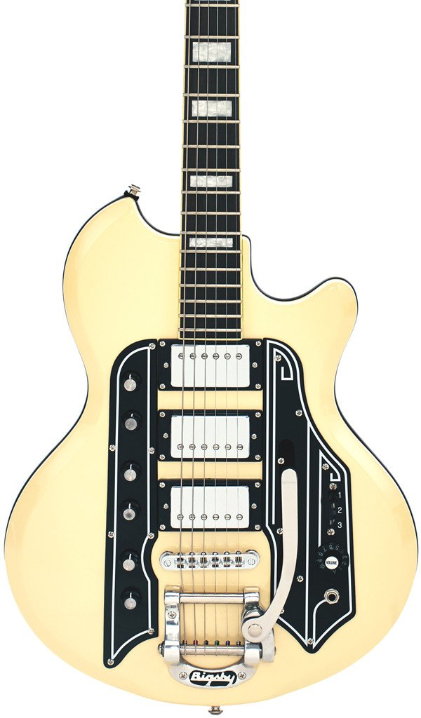 Eastwood Guitars Airline 59 Town & Country DLX Vintage Cream Featured