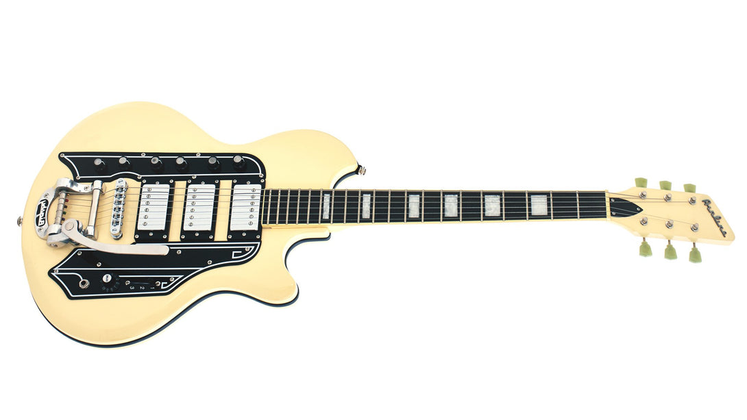 Eastwood Guitars Airline 59 Town & Country DLX Vintage Cream Angled