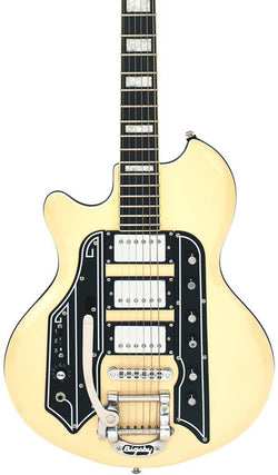 Eastwood Guitars Airline 59 Town & Country DLX Vintage Cream LH Featured