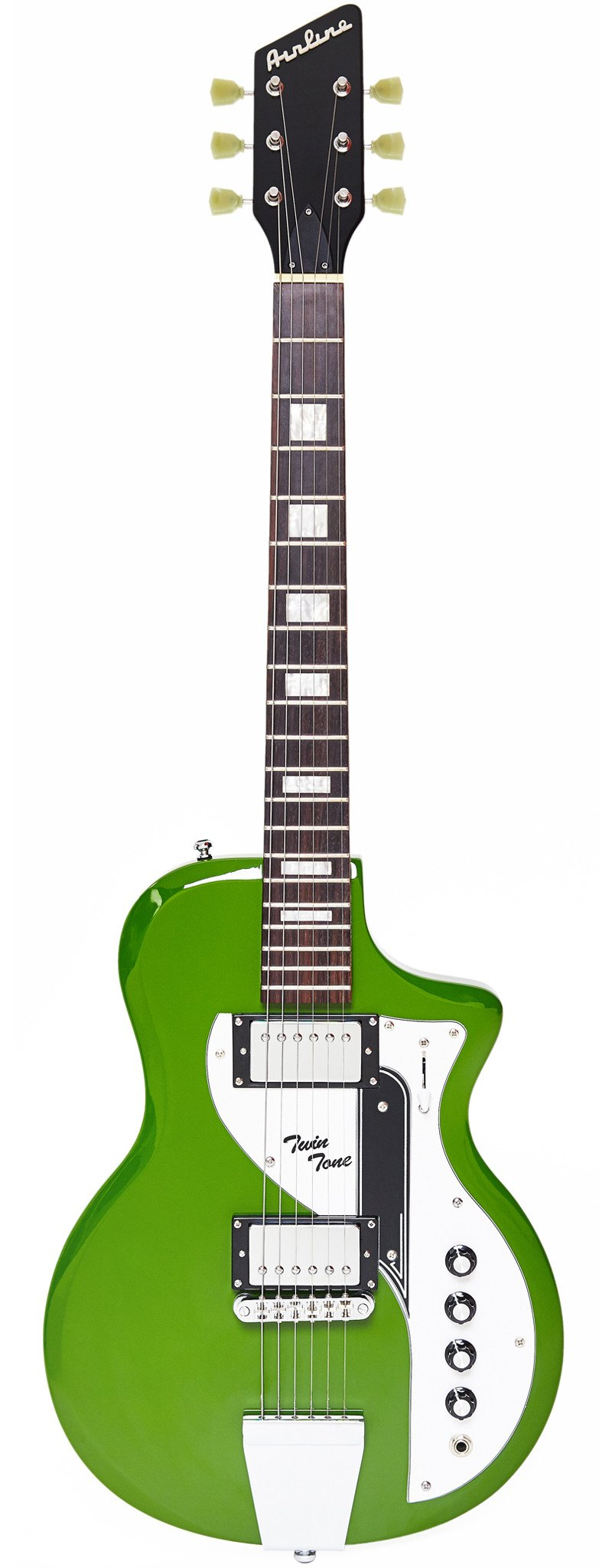Eastwood Guitars Airline Twin Tone Green Full Front