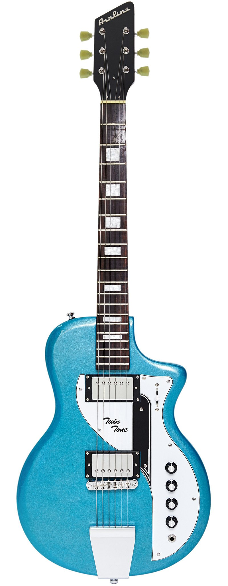 Eastwood Guitars Airline Twin Tone Metallic Blue Full Front