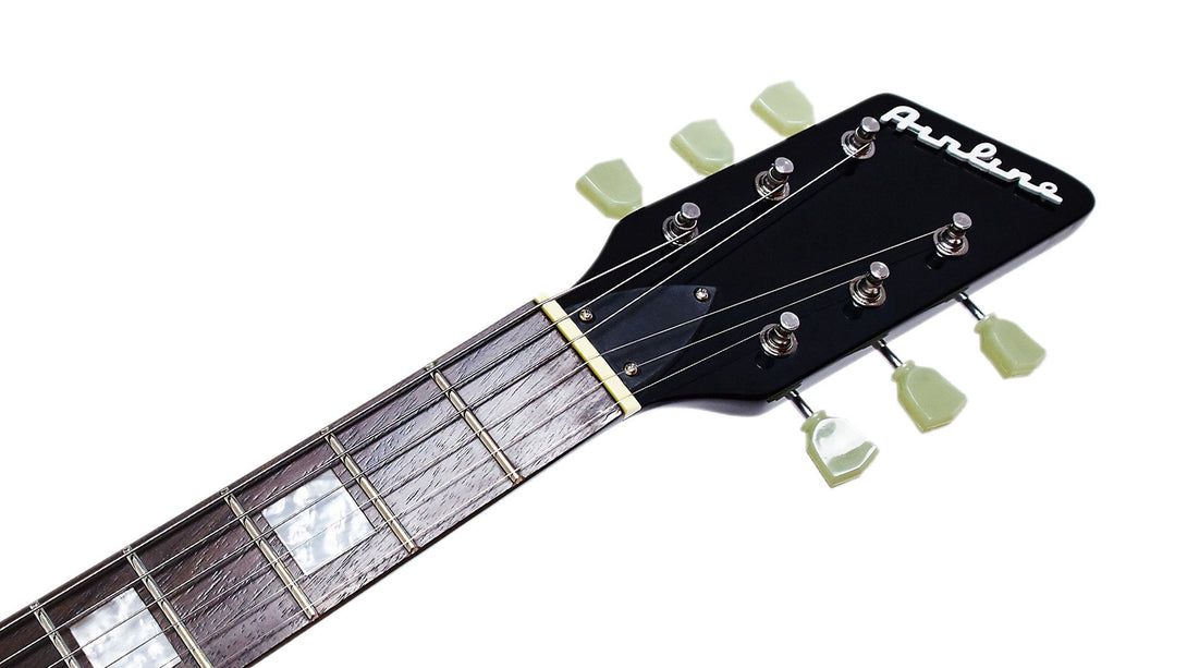 Eastwood Guitars Airline Twin Tone White Headstock