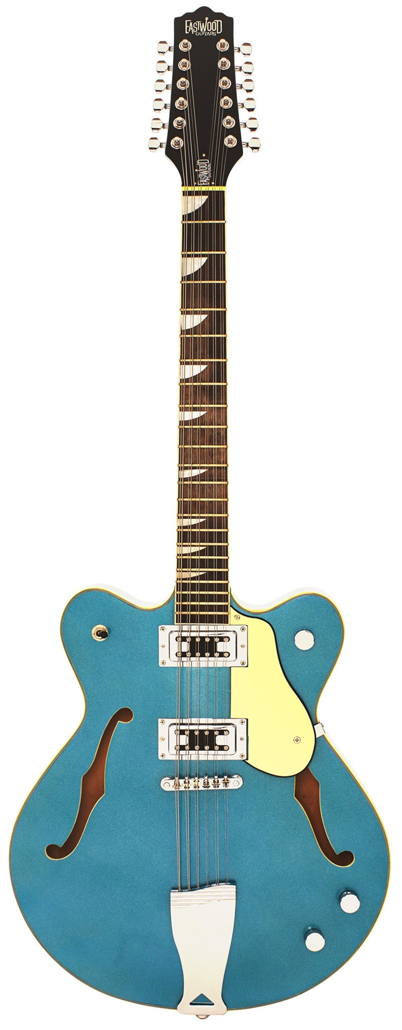 Eastwood Guitars Classic 12 Metallic Blue Full Front