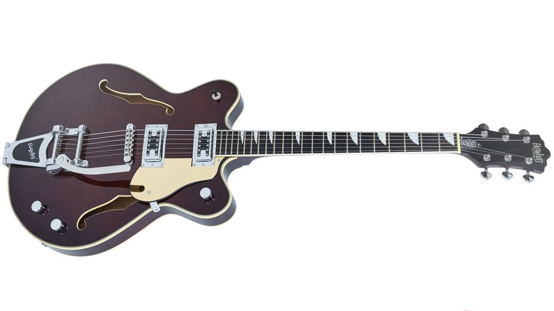 Eastwood Guitars Classic 6 DLX Walnut Angled