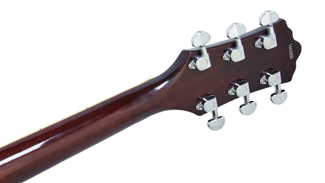 Eastwood Guitars Classic 6 Walnut LH Head Back