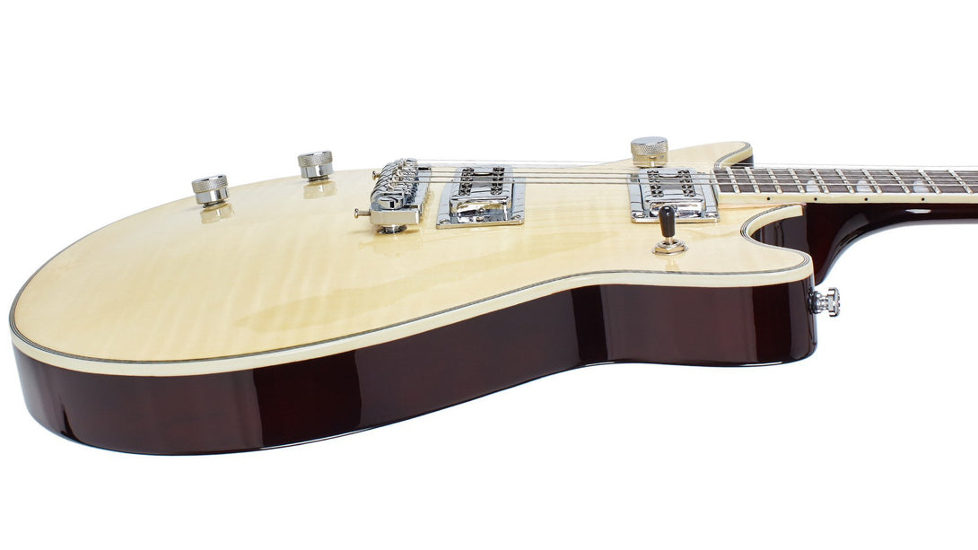 Eastwood Guitars Classic AC Natural LH Player POV