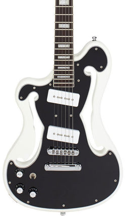 Eastwood Guitars Deerhoof EEG Black on White LH Featured