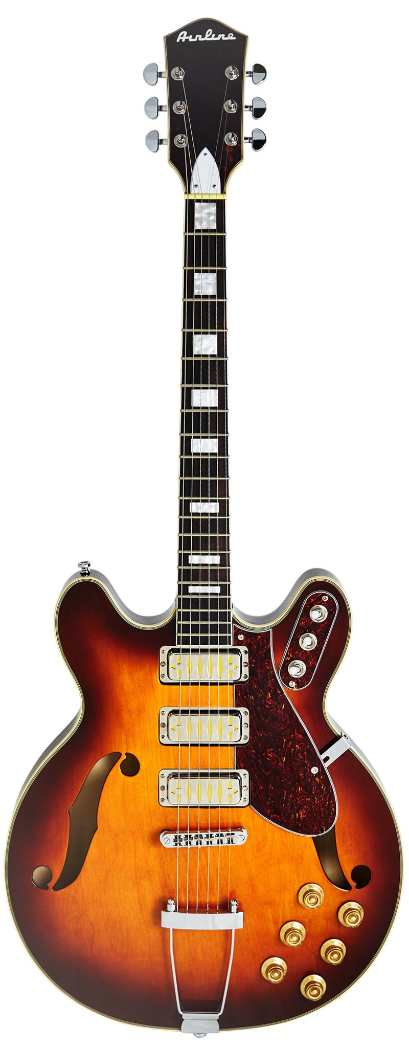 Eastwood Guitars Airline H77 Honeyburst Full Front