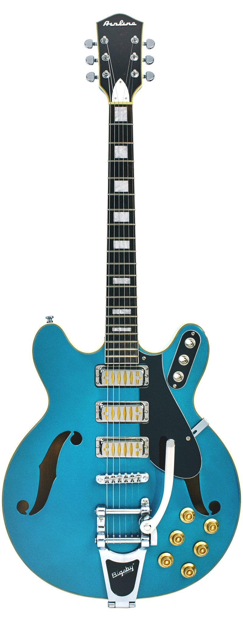 Eastwood Guitars Airline H78 Metallic Blue Full Front